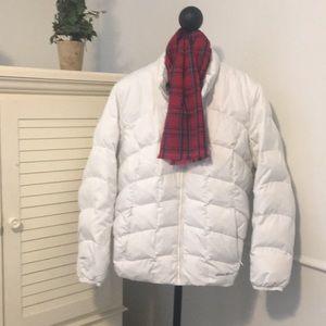 Women's Eddie Bauer EB650 down white coat